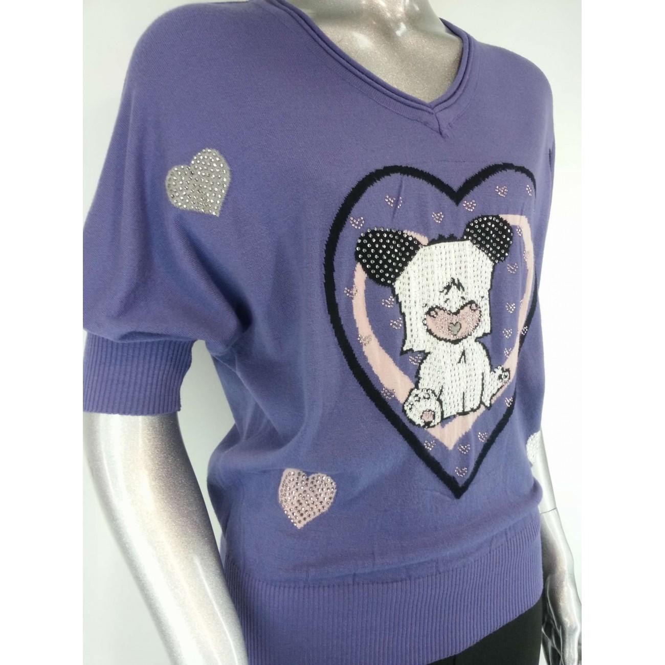 Пуловер со стразами Swarovski