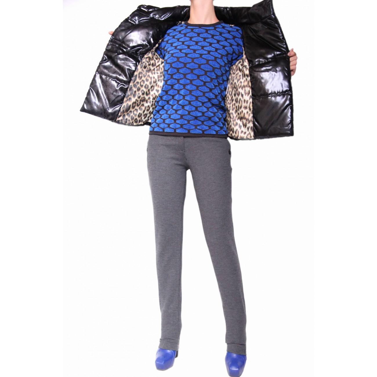 """Куртка-болеро из итальянского атласа с обработкой """"под кожу"""""""