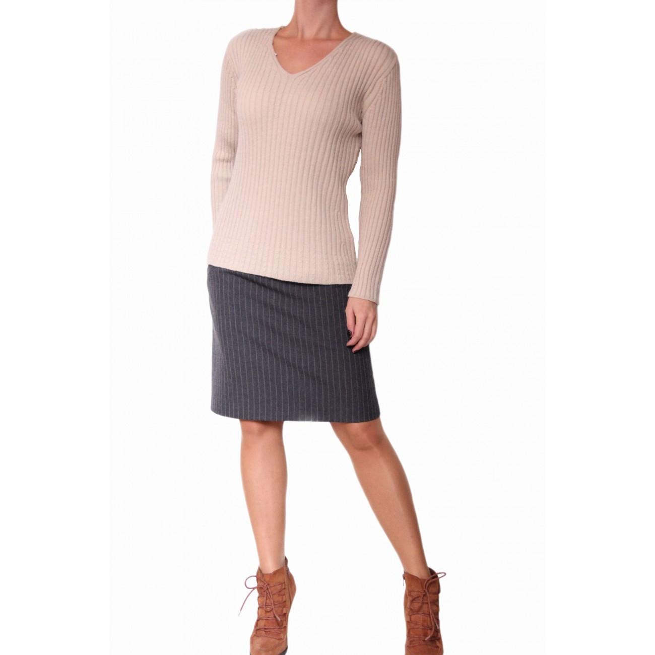"""Пуловер из тонкой мягкой шерсти вязка """"резинка"""""""