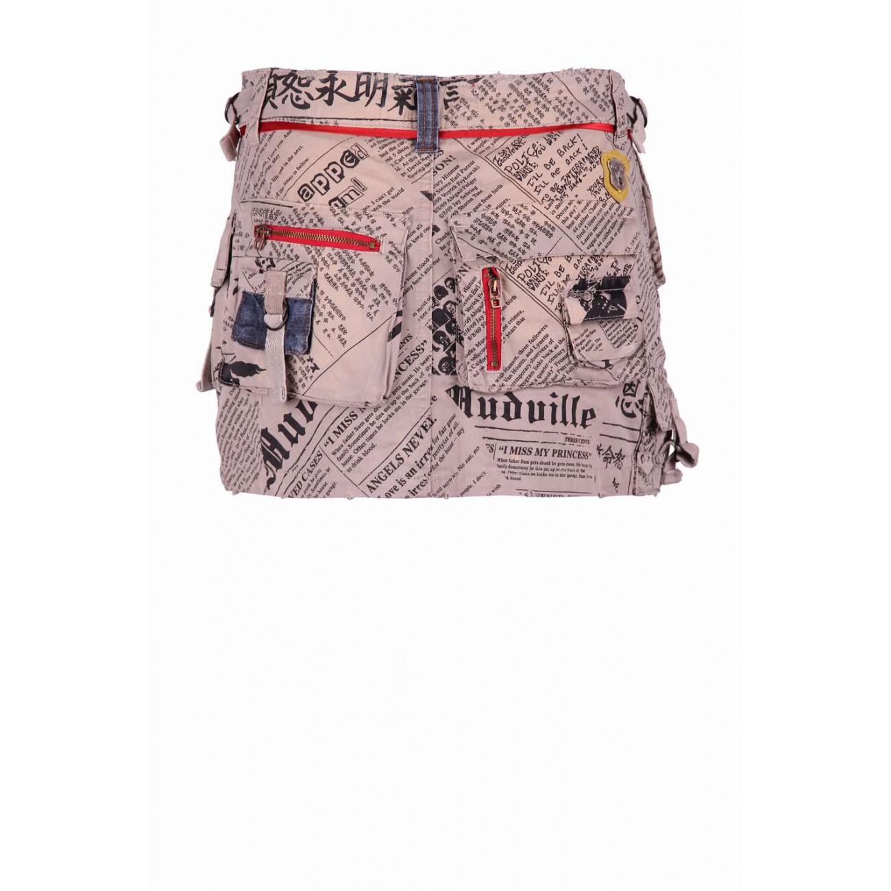 Юбка джинсовая с накладными карманами