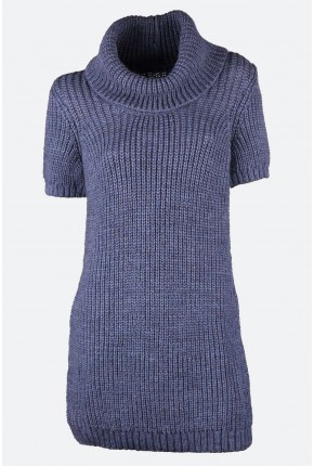 "Туника-свитер из махера, объемной вязки ""резинка"""