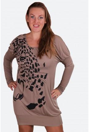 """Платье - блузон с принтом """"леопард"""""""