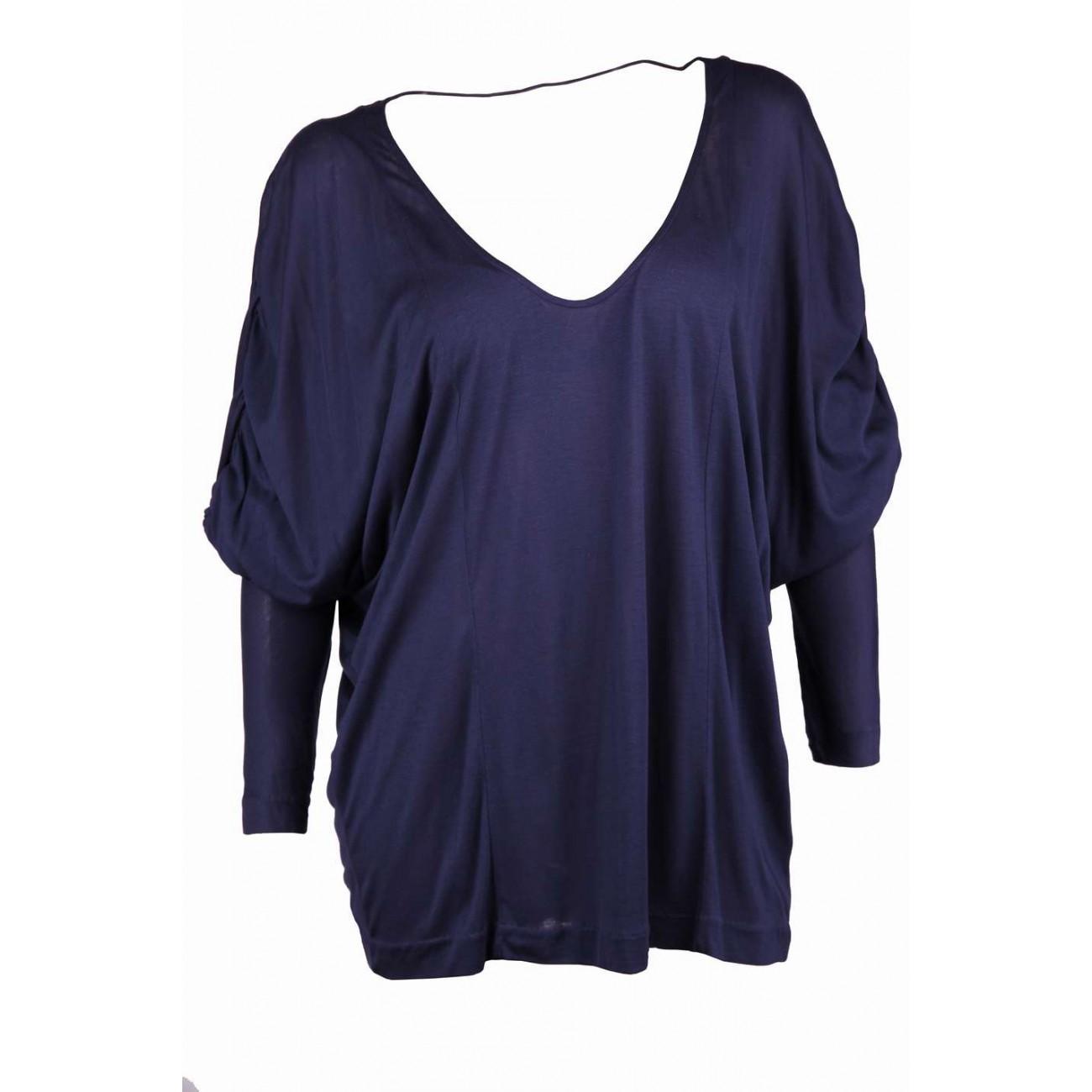 """Блуза  с рукавом и вырезом"""" мыс""""впереди и на спине"""