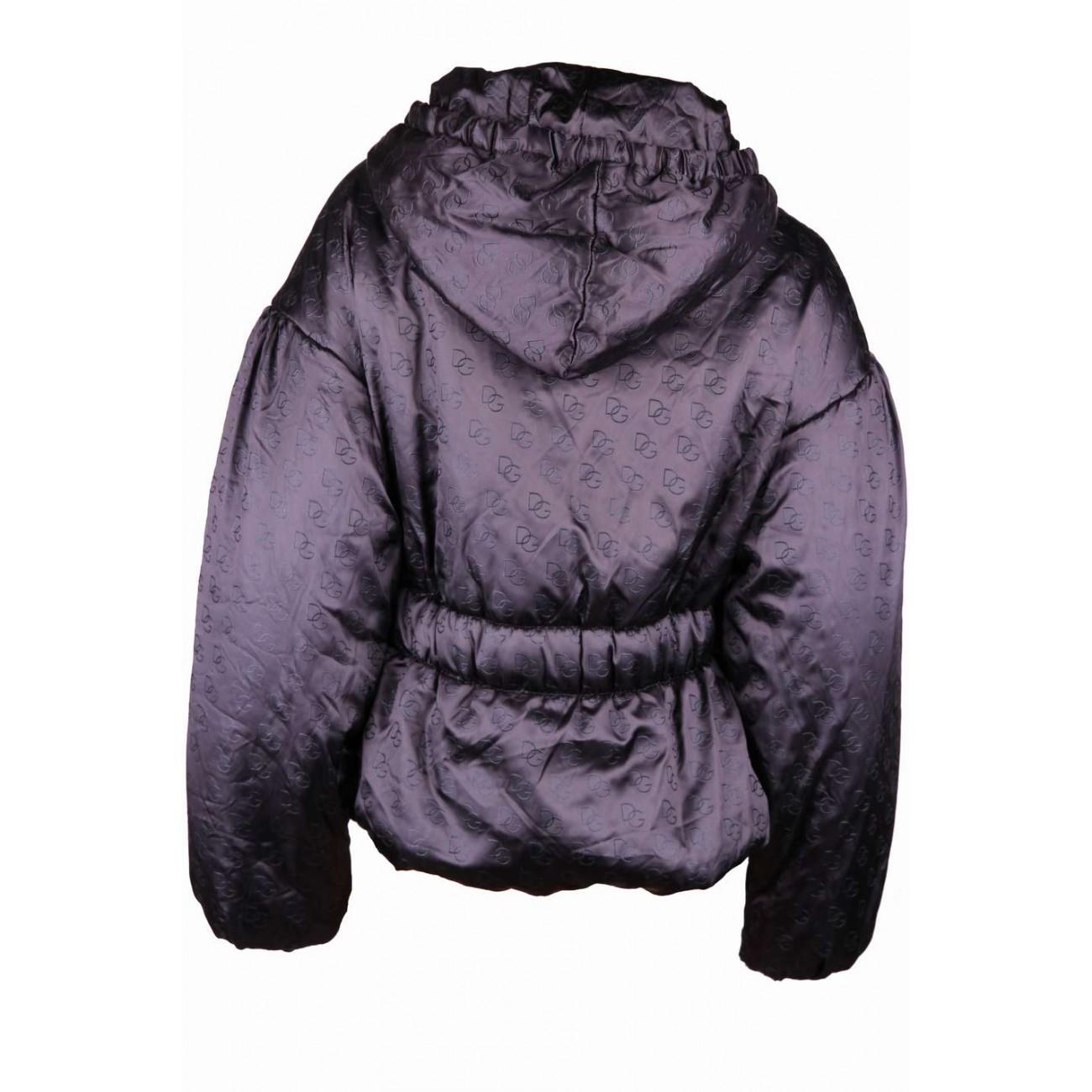 Куртка из атласной ткани с накладными карманами