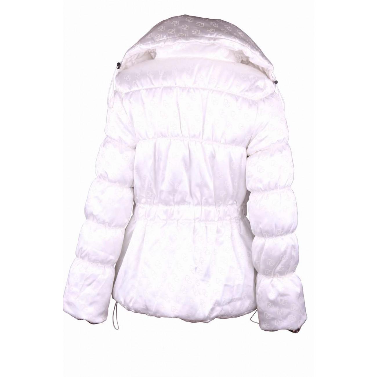 Куртка из атласной ткани с фантазийным воротником