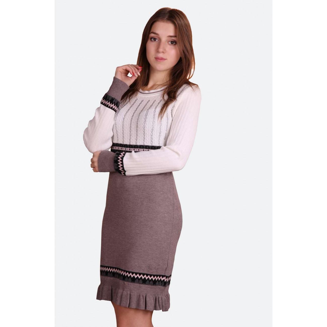 """Платье со """"скандинавским"""" узором и стразами Swarovski"""