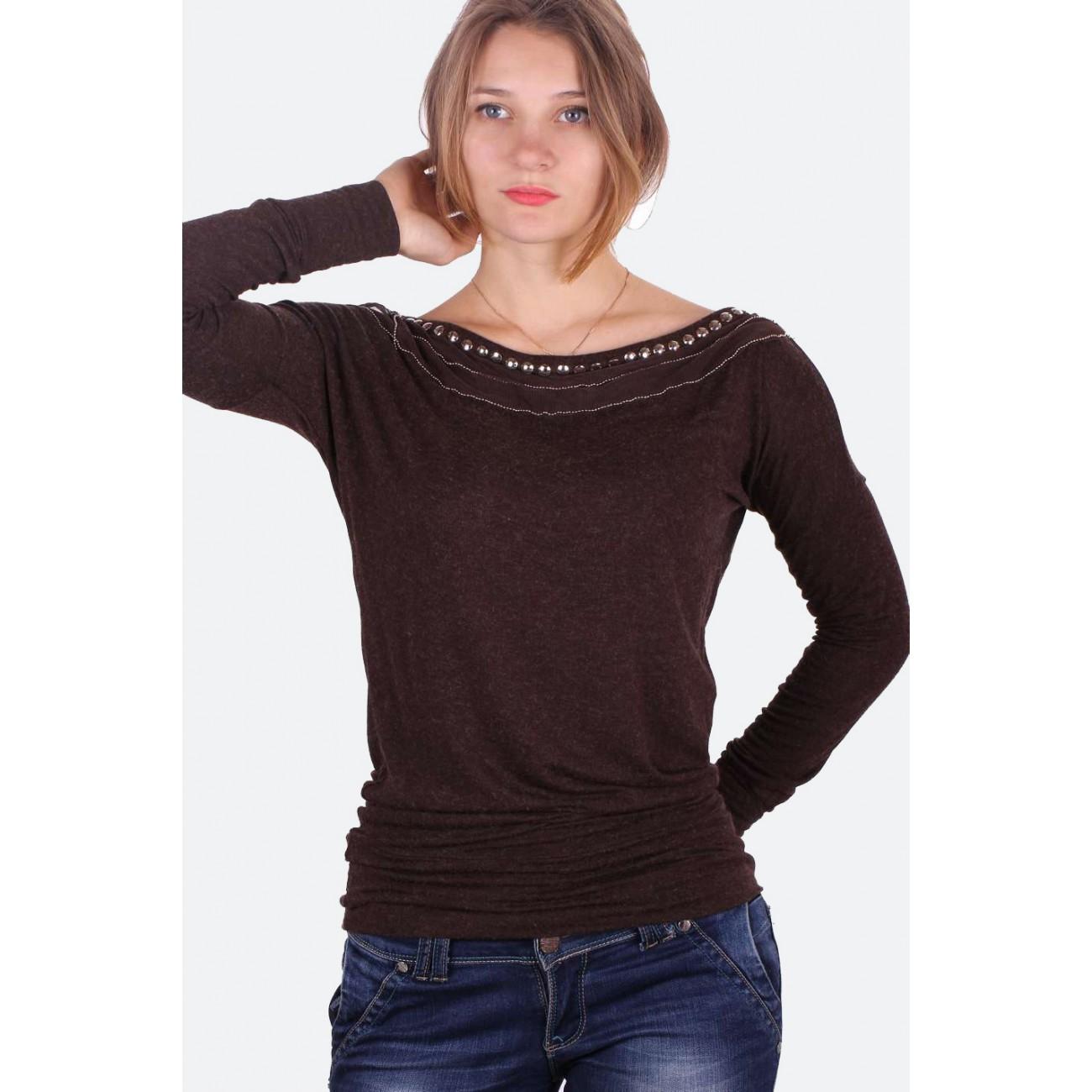 Блуза-туника с цельнокроенным рукавом