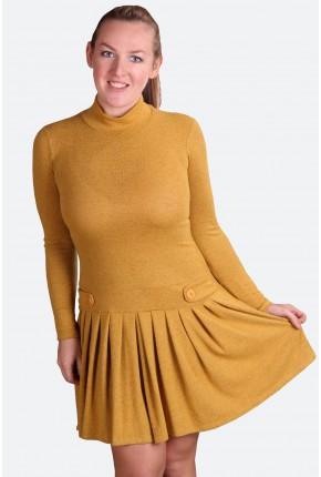 """Платье с обработкой """"под велюр"""" с заниженной талией"""