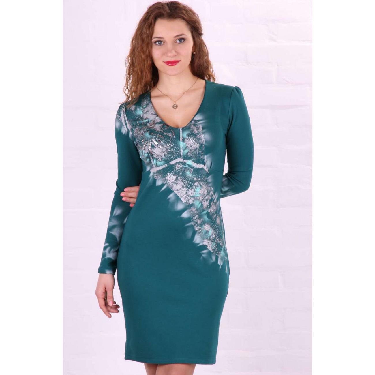 Платье - футляр с узором